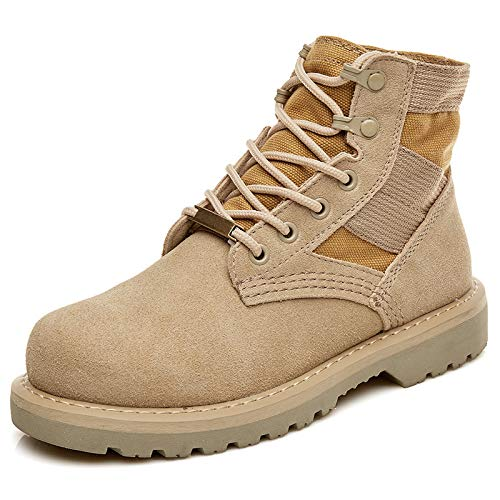 Work Outdoor Sabbia Desert Rotonda Color Slip A Casual Uomo Boot Uomo Lace Autunno Inverno Top Safety Punta Shoes In Army Boots Martin Up Anti Patrol WKNBEU Pelle High q6wZ80