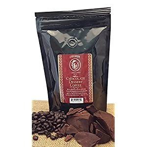 Chocolate Flavored Coffee Whole Bean, Bold 100% Arabica Beans Infused With Huckleberry Chocolate Oil And Chocolate Oil From Spokandy (Chocolate Dessert Coffee)