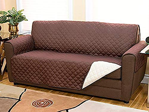 TIERRA Waterproof Three Seater Pet Dog Couch Sofa Mat Sofa Slipcovers Cheap for Living Room Universal Couch Furniture Sofa Covers (3 – Seater)