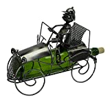 Antique Car and Driver Wine Bottle Holder Character