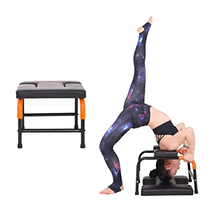 Amazon.com : Stand Yoga Chair Handstand Bench, PU Cushioned ...