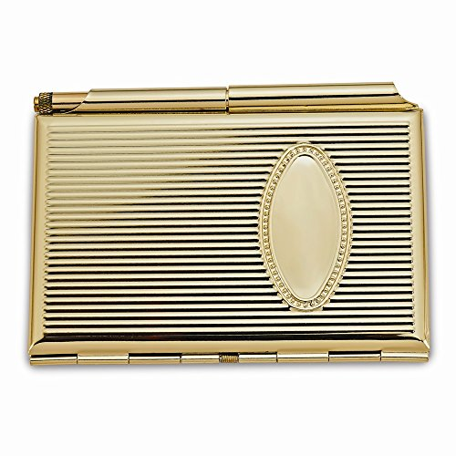 Jewels By Lux Gold-Plated Business Card and Note Holder (Holder Gold Plated)