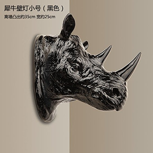 Avanthika E27 Wall Sconces Mounted Wall Lamps The Rhinoceros Head Wall Lamps Rustic Wall Lights Hunting Farm Animals and Wall Lights
