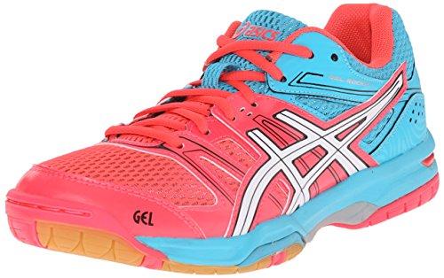 ASICS Women's Gel Rocket 7 Indoor Court Shoe, Diva Pink/White, 13 M US