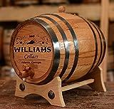 Personalized Wine Oak Aging Barrel - Custom Engraved (20 Liters)