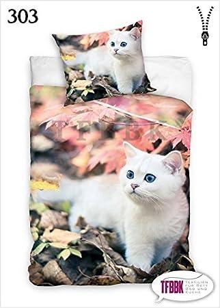 2 Tlg Jugend Bettwäsche Baumwolle 303 Katze 140x200 Amazonde