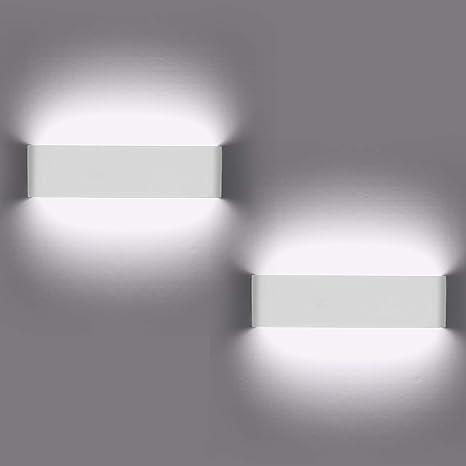 Lampade da parete per interni, 2 pezzi Applique da parete 12W LED Luci su e  giù Lampada da parete moderna per soggiorno Balcone Portico per scale, ...