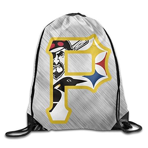Pride Of Pittsburgh Pirate Sport Backpack Drawstring Print Bag