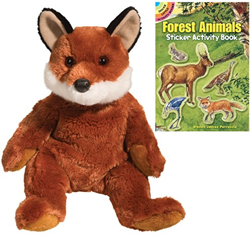 Vixen Reindeer Costumes (Douglas Vixen Fox Pudgie Plush Animal with Forest Animals Sticker Book)