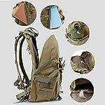 WFSH Sac À Dos Tactique Militaire 25L Large Imperméable Molle Bug Out Sac Armée 3 Jours Assault Pack 9