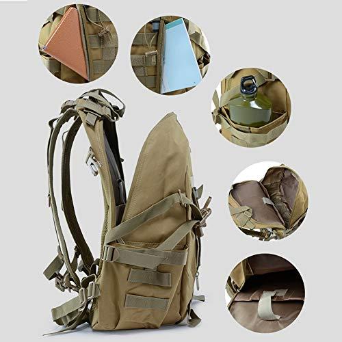 WFSH Sac À Dos Tactique Militaire 25L Large Imperméable Molle Bug Out Sac Armée 3 Jours Assault Pack 4