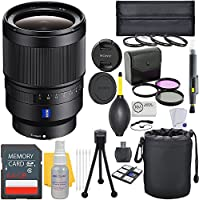 Sony Distagon T FE 35mm f/1.4 ZA Full Frame E-Mount Lens + Deluxe Lens Bundle