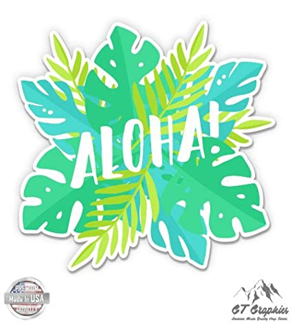 Amazon com: GT Graphics Aloha Tropical Hawaii - Vinyl