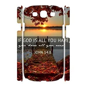 DIY High Quality Case for Samsung Galaxy S3 I9300 3D, John Quotations Phone Case - HL-701444