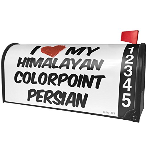 (NEONBLOND I Love My Himalayan Colorpoint Persian Cat from United Kingdom Magnetic Mailbox Cover Custom Numbers)