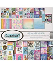 Reminisce (REMBC) Quote Book Scrapbook Collection Kit, Multi Color Palette