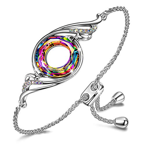 Kate-Lynn-Gifts-for-Her-Christmas-Bracelets-for-Women-Nirvana-of-Phoenix-Link-Bracelet-for-Girls-Crystals-from-Swarovski-Jewelry-Gifts-for-Girls-with-Gift-Box-Soft-Cloth