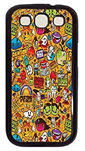 Colorful Sticker Illustrations Protective Hard PC Snap On Case for Samsung Galaxy S3 I9300 -1122020