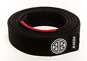 Maeda Brand Gi Material BJJ Belts - Black - A0