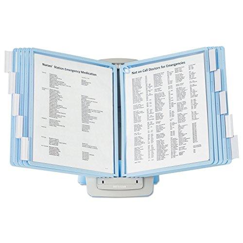 Sherpa Style Desk-Mount Reference System, 20 Sheet Capacity, Blue/Gray ()
