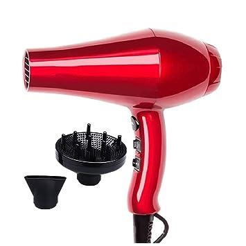 SUYING Secador de Pelo Profesional ionico, Doble Voltaje,1400 watios de Potencia con 2 velocidades y 3 ajustes de, Color Rojo: Amazon.es: Hogar