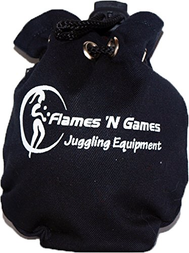 Flames N Games Acrylic Contact Ball + Multiball Contact Book + Suede Bag - Pro Contact Balls & Book for All Abilities and Ages! (Clear Acrylic 120mm + Book + Bag, 120mm) by Flames N Games (Image #4)