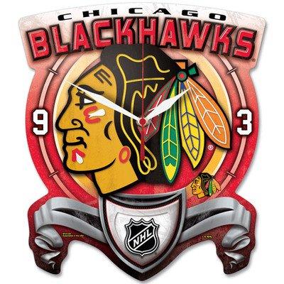(Wincraft NHL 0716581 Chicago Blackhawks High Definition Plaque Clock)