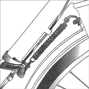 Alineador amortiguado rueda delantera bici, mayor estabilidad, metal y plástico