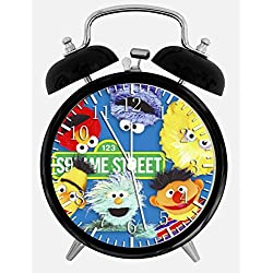 Sesame Street Elmo Desk Alarm Clock 4 inches X08 Nice for Gifts or Decor