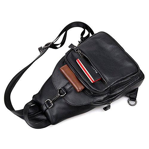 Crossbody Ybriefbag Genuine for Outdoor Backpack Women Backpack Travel Sling Black Business Daypack Sports Chest Shoulder Messenger Men Bags Crossbody for Leather Hiking Casual Men's Sling Sport Bag CfC1rq
