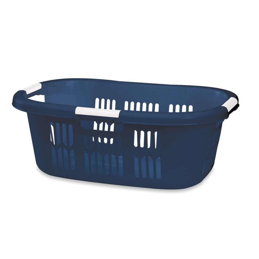 Rubbermaid FG299700ROYBL Plastic Laundry Basket, 25-3/4