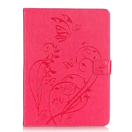 For Samsung Galaxy TAB S2 T815 Tablet 9.7 inch case,Lucoo fashion soft comfortable New Shell Wallet Leather Case Cover for Samsung Galaxy Tab S2 T815 Tablet 9.7inch (Hot Pink)