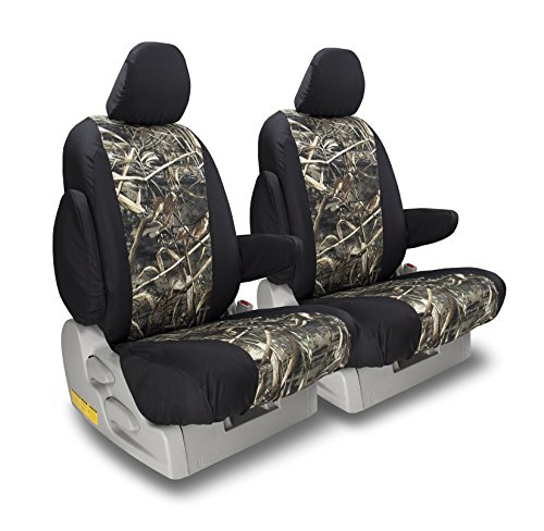 Front Seats: ShearComfort Custom Realtree Camo Seat Covers for Chevy Silverado (2019-2019) in MAX-5 Sport for Buckets w/Adjustable Headrests (1500...
