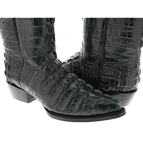 bc0f115f97d El Presidente - Men's Green Full Crocodile Tail Print Cowboy Boots J ...