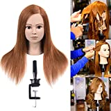 100% Human Hair Mannequin Head For Braiding Manikin Head For Hairdresser Professional Cosmetology