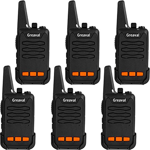 - Greaval Walkie Talkies 6 Pack Long Range Mini 2 Way Radio 16-Channel with LED Flash (Pack of 6)