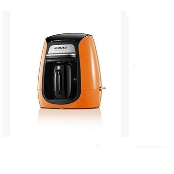 HUWAI YFK máquina de café de una Sola Taza máquina automática de Goteo de café máquina de café de Oficina, Yellow: Amazon.es: Hogar