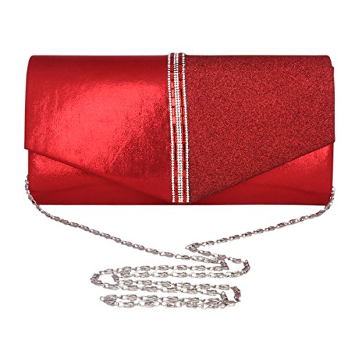 Womens Bag Adoptfade Long Classic Clutch Evening Crossbody Retro Silver Bag PU Envelope dttF4w