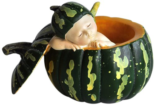 Sleeping Fairy Baby in Green Gourd Statue