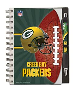 Green Bay Packers Deluxe Hardcover, 5 x 7 Inches Notebook and Pen Set, Team Colors (12024-QUJ)