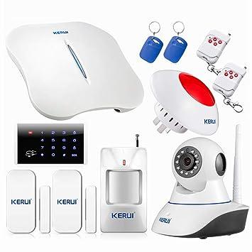 KERUI - W1 Kit Alarme de Maison sans fil RTC   PSTN avec Sirène Intérieure - 065468c408fc