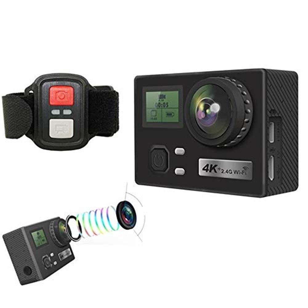 アクションカメラ スポーツカメラ、WIFI水中ダイビングカメラアクションカメラサポート2.4 Gリモートコントロールカメラカメラ付きミニ4 K屋外スポーツカメラ カメラ   B07RQD4Y45