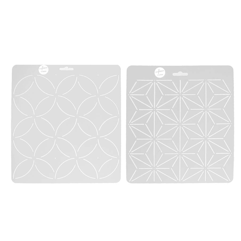 D DOLITY 2 Pieces Plastic Leaves Flowers Embroidery Quilting Templates & Stencils Sewing Patchwork Craft