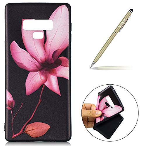 Protection Galaxy Galaxy Silicone Galaxy en Note 9 Note Ultra Note Etui Gel Samsung Coque Homme Samsung Herbests Housse Slim avec Silicone Samsung pour Femme Fille de 9 Coque Souple Lotus TPU Coque Motif 9 xf61nYqw