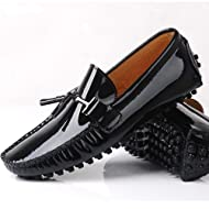 8c6757dade8 Fulinken NEW Patent Leather Men Tassel Slip on Loafers Casual Shoes Diving  Shoes Dress Shoe