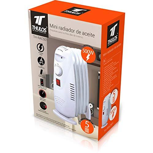 Thulos TH-RAC501 Mini Radiador de Aceite de 5 Elementos de Calor y ...