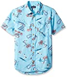 The Children's Place Big Boys' Patterned Woven Shirt, Caribbean, XS (4)