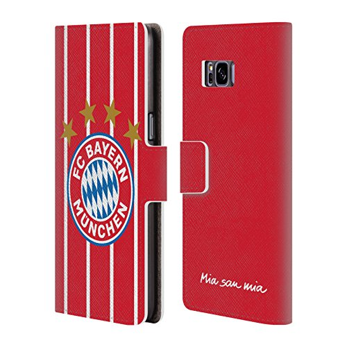 Official FC Bayern Munich Home 2017/18 Logo Kit Leather Book Wallet Case Cover For Samsung Galaxy S8+ / S8 (Bayern Munich Kits)