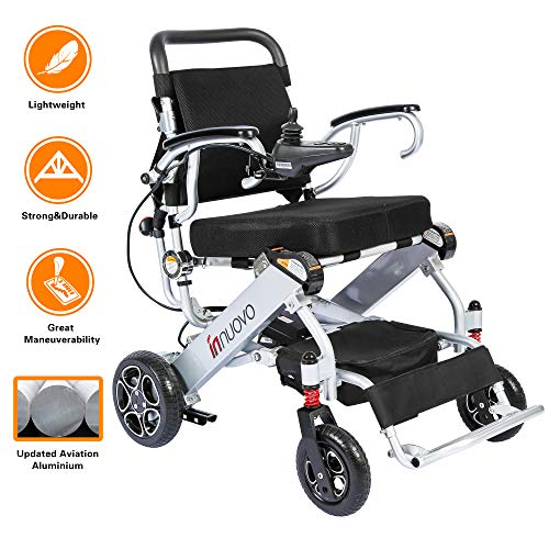 innuovo N5513A Lightweight Foldable Electrical Wheelchair Power Chair 50lbs ()