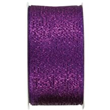 The Gift Wrap Company 1.5-Inch Wired Edge Brilliance Ribbon, Amethyst (19045-13)